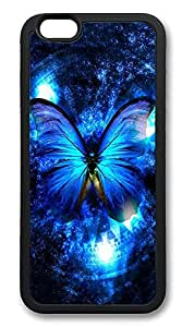 iPhone 6 Plus Cases, Lady And The Butterfly Durable Soft Slim TPU Case Cover for iPhone 6 Plus 5.5 inch Screen (Does NOT fit iPhone 5 5S 5C 4 4s or iPhone 6 4.7 inch screen) - TPU Black