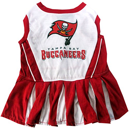 Tampa Bay Buccaneers NFL Cheerleader Dress For Dogs - Size Medium