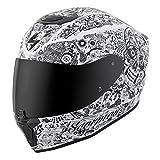 Scorpion EXO-R420 Full-Face Helmet Shake White Medium (More Size Options)