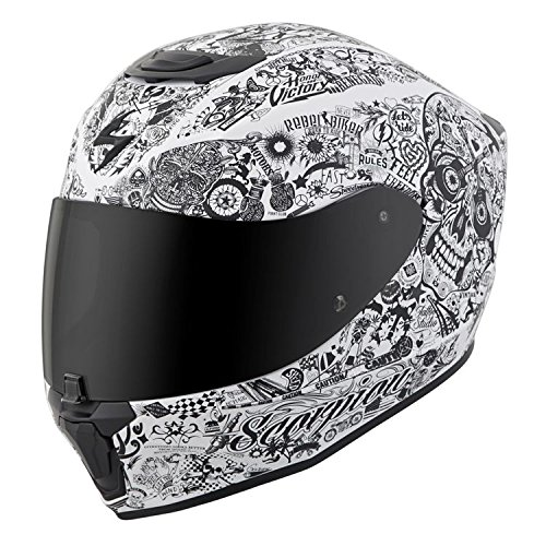 Scorpion EXO-R420 Full-Face Helmet Shake White Large (More Size Options)