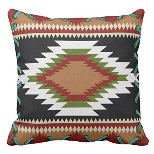 - Emvency Throw Pillow Cover Vintage Country Western Southwest Hardeman Tribal Antique Decorative Pillow Case Home Decor Square 18 x 18 Inch Pillowcase