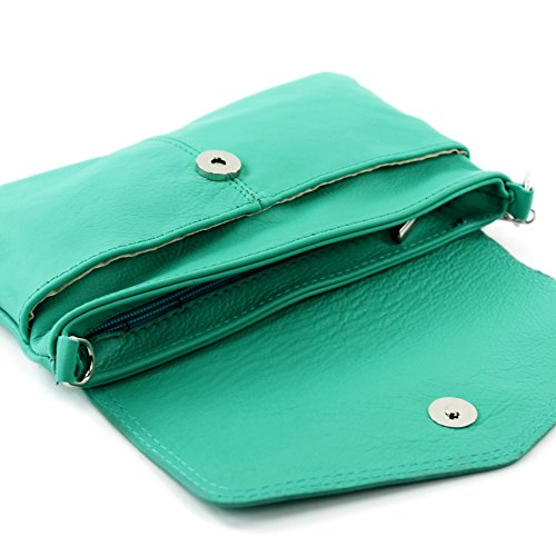 modamoda de - Made in Italy - Bolso cruzados para mujer ver descripción aguamarina