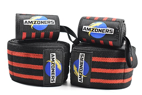 "Premium 72"" Knee Wrap Pair + Wrist Wrap pair For Power li..."
