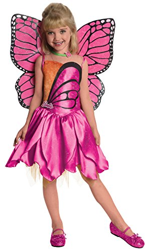 Barbie Fairytopia Mariposa and Her Butterfly Fairy Friends Deluxe Mariposa Costume, -