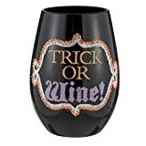 Stemless Wine Glass By Grasslands Road (Trick or Wine) by Grasslands Road