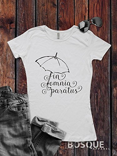 Gilmore Girls inspired T-Shirt / Adult T-shirt Top Tee Shirt design In Omnia Paratus Shirt - Ink Printed by Modern Vector