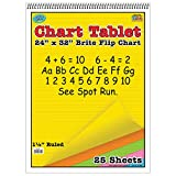 """Top Notch Teaching TOP3820 Brite Chart Tablet, 1-1/2"""" Ruled, Assorted Colors, 24"""" Width, 32"""" Length, 25 Sheets"""
