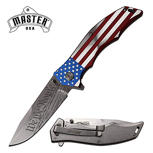 New Folding ProTactical Limited Edition Elite SPRING ASSISTED knife American Flag Patriot US Constitution, We the People