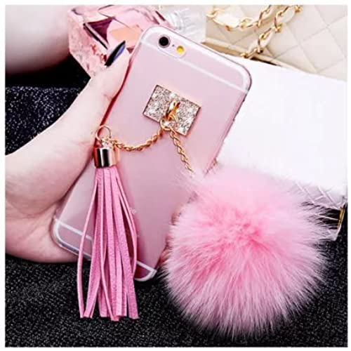 S7 edge Tassel Pendant Case,MAX-BLV Galaxy s7 edge Luxury Rabbit Fur Puffer Ball Tassel Pendant Case For Samsung Galaxy S7 edge Sales