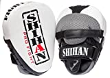 SHIHAN-CHAMP Exclusive LEATHER Punch Mitts, Focus Pads Pads SHIHAN WHITE 1 Pair