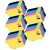 5 Set of 4 Inkfirst 220XL 220XL Ink Cartridges T220XL1, T220XL2, T220XL3, T220XL4 Compatible Remanufactured for Epson 220XL Black, 220XL Cyan, 220XL Magenta, 220XL Yellow (High Capacity) Expression XP420 XP424 XP-320 WorkForce WF-2630 WF-2650 WF-2660