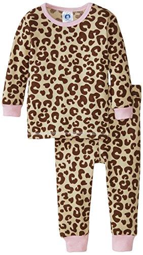 (Gerber Baby Girls' Animal Print 2 Piece Thermal Pajamas, Animal Print, 18 Months)