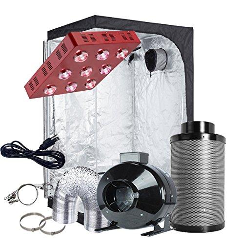 Mylar Driver - TopoGrow LED Grow Tent Complete Kit LED 1800W COB LED Grow Light Kit +48