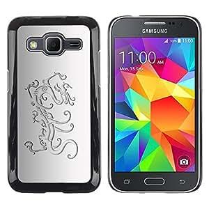 Be Good Phone Accessory // Dura Cáscara cubierta Protectora Caso Carcasa Funda de Protección para Samsung Galaxy Core Prime SM-G360 // Lion Crest