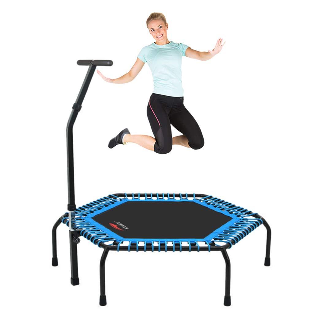 Gartentrampoline Trampolin Hüpfburgen Sprungtrampolin Indoor- und Outdoor-Fitnessgeräte mit Armlehnen Geschenk für Familien Kinderspielzeug Gewicht 150kg