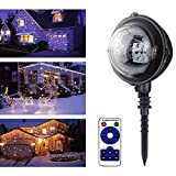 Phoneix Snowfall Outdoor Led Christmas Lights Displays Projector Show Waterproof Projection Snowflake Lamp with Wireless Remote for Xmas Halloween Party Wedding Garden Decoration