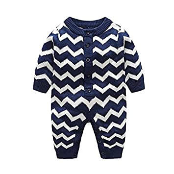 07f4ebea6511 Fairy Baby Baby Boy Girl Knitted Sweater Geometry Jumpsuits Romper