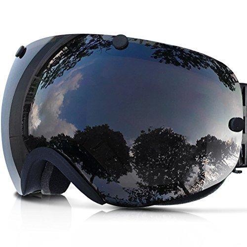 [ZIONOR Lagopus Snowmobile Snowboard Skate Ski Goggles with Detachable Lens] (All Mountain Snow Skis)