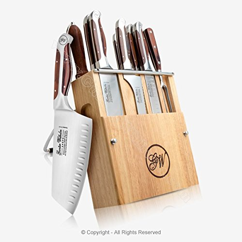 Gunter Wilhelm Cutlery 201 Executive Chef 11-Piece Professional Knife Set with Wooden Storage (11 Piece Professional Cutlery Set)