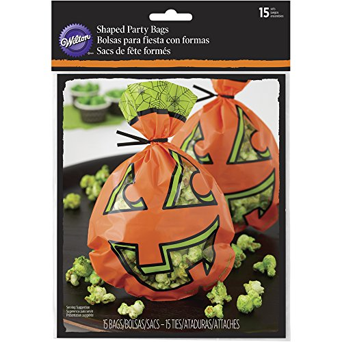Wilton Jack-o'-Lantern Halloween Treat Bags, (Homemade Halloween Treats For Trick Or Treaters)