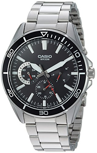 Casio Men's 'Sports' Quartz Stainless Steel Casual Watch, Color:Silver-Toned (Model: MTD-320D-1AVCF)