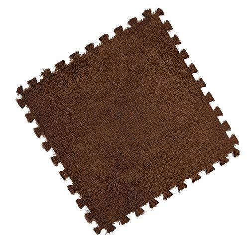Wisfren 30cm/Piece Puzzle Mat EVA Foam Shaggy Velvet Carpet Door mat Jigsaw Mat Plush Fabric Carpet Area Rug Room Floor Mats