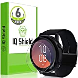 IQ Shield Screen Protector Compatible with Samsung Galaxy Watch Active 40mm (6-Pack) LiquidSkin Anti-Bubble Clear Film