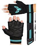 Xtrim Leather Gym Workout Gloves For Men- Black ( M / L / XL )