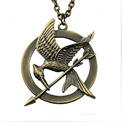 Fashion jewellery from the hunger games 2 unisex necklace the fashion jewellery from the hunger games 2 unisex necklace the hunger games mockingjay with large mozeypictures Images