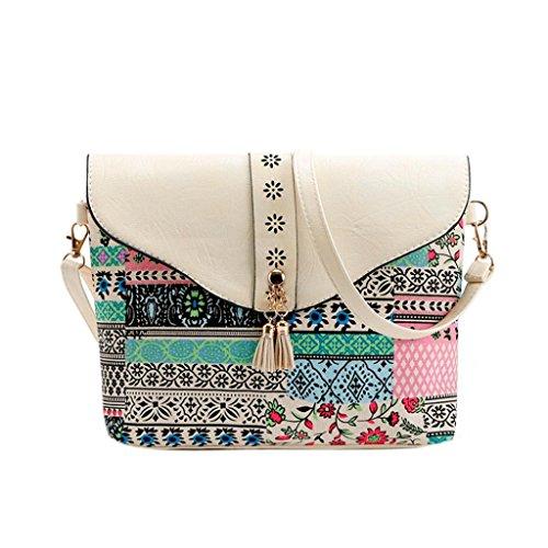 Women Shoulder Bag,VESNIBA Fashion Women Flower Print Handbags Bag 6 Color (Louis Bucket Vuitton)