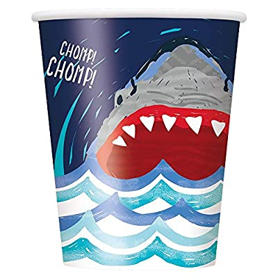 Unique Shark Party Cups, 8 Ct.: Toys & Games