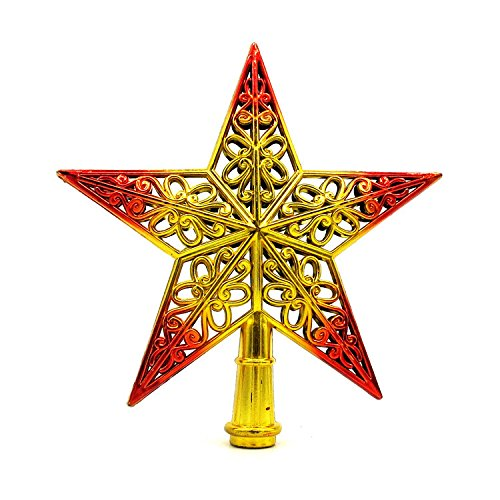 YOMXL Natural Star Treetop,Winter Christmas Tree Topper Plastic Tree Top Star Hollow Decor Party Home Decoration Gift
