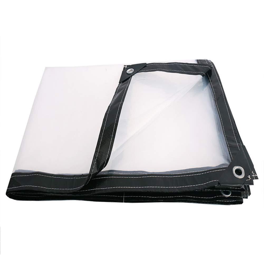 LIXIONG トランスペアレント ターポリン アンチ雨 日よけ布 プラスチック 増粘 アウトドア オーニング 90g/m²、 16サイズ (サイズ さいず : 4X10m) 4X10m  B07H2NRH6N