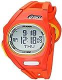 Asics Unisex CQAR0107 Orange and Yellow Digital Running Watch