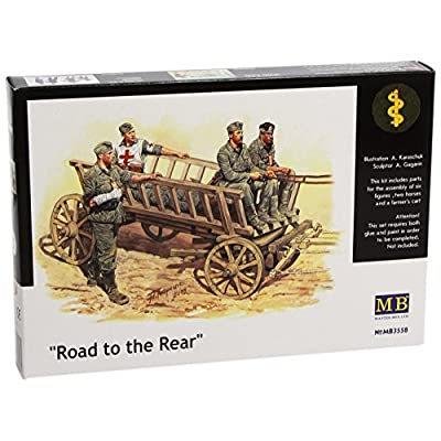 Master Box Road to The Rear (5 German Soldiers, 2 Horses and Wagon) Figure Model Building Kits (1:35 Scale): Toys & Games