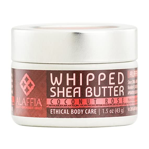 Alaffia - Whipped Shea Butter, 1.5 Ounces 1 100% FAIR TRADE: Feel good about how you are getting your products with 100% Certified Fair Trade Ingredients. PROTECT YOUR SKIN WITH A HANDCRAFTED FORMULA: Receive the full moisturizing and protective benefits of its unique fatty acid profile and Vitamins A and E with our traditionally handcrafted, unrefined shea butter. EVERYDAY FOR EVERYONE: Traditional formula suits all skin types.
