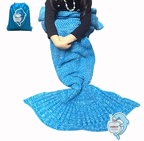 LAGHCAT Mermaid Tail Blanket Knit Crochet and Mermaid Blanket for Adult,Sleeping Bags