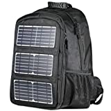 ECEEN Backpack High Capacity 48L for Laptops Up To 17-Inch, 10W Solar Panel Charger with Voltage Regulater & USB Output Port, Solar Charger for Power Bank Phone & other 5V USB-charging devices
