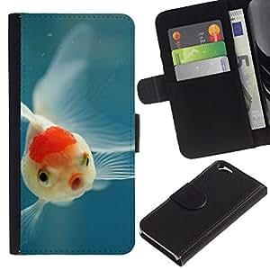 Planetar® Modelo colorido cuero carpeta tirón caso cubierta piel Holster Funda protección Para Apple (4.7 inches!!!) iPhone 6 ( Fish Tropical Scuba Diving Blue Nature )