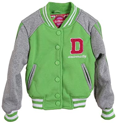 Dollhouse Girls and Toddlers Soft Knit Lined Sweatshirt Spring Varsity Jacket