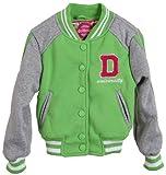dollhouse Girls Toddlers Soft Knit Lined Sweatshirt Spring Varsity Jacket - Kiwi (Size 14)
