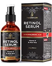 Retinol serum for face (2oz) with Hyaluronic Acid + Vitamin A and E + Aloe Vera - Anti aging moisturizer - Fade Dark Spots - Clinical Strength Formula by InstaSkinCare
