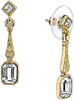 product image for 1928 Jewelry Gold Tone/Crystal Fashion Vintage Fashion Drop Earrings