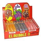 Dubble Bubble El Bubble Bubble Gum Cigars- 3 Flavors, Packages (Pack of 36)
