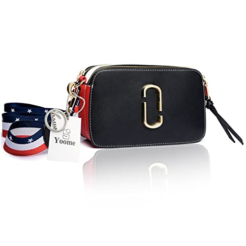 cd3bc00fe0cf Amazon.com  Yoome Street Style Tiny Contrast Color Belt For Women Tote With  Zipper New Chic Bags Crossbody - Black  Clothing
