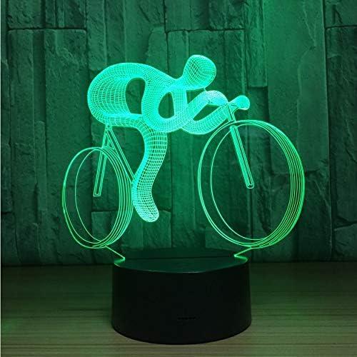 Luz Nocturna Infantil Bicicleta 3D Led Lámpara De Noche Luz 7 ...