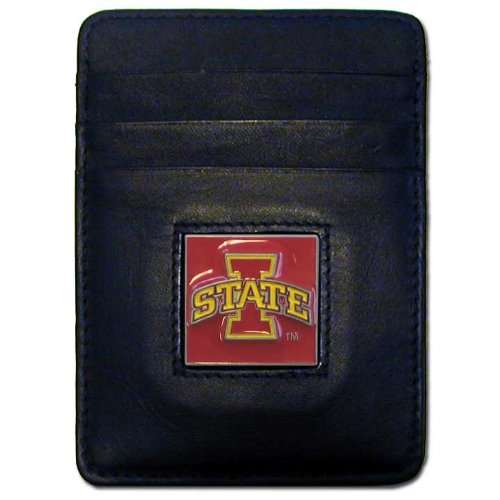NCAA Iowa State Cyclones Leather Money Clip/Cardholder Wallet