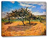 """This 16"""" x 20"""" premium giclee canvas art print of Apple Trees In Blossom by Paul Gauguinis created on the finest quality artist-grade canvas, utilizing premier fade-resistant archival inks that ensure vibrant lasting colors for years to come. Every ..."""