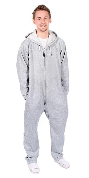 Forever Lazy Pijama monopieza unisex para adultos gris gris XS
