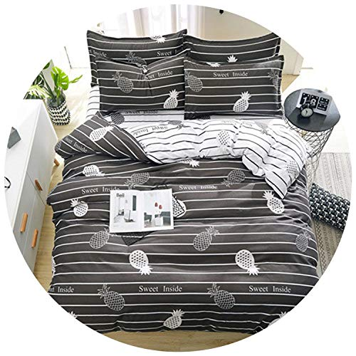 Grey Bedding Set Past Style Bed Linen Set Home Bed Flat Sheet, case Duvet Cover Set 2019 New Flower Bed Cover Heart,Sweet Heart,Super King